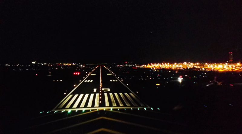 night time landing