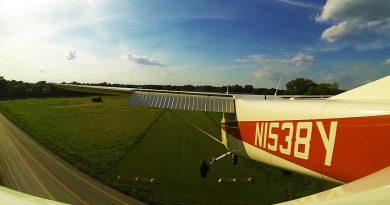 short field grass landing